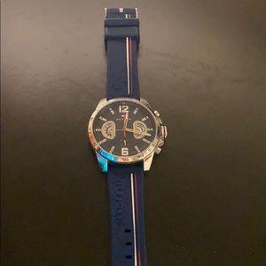 Tommy Hilfiger men's navy silicone strap watch